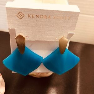 Gorgeous blue statement earring.